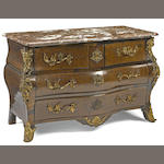 A Régence gilt bronze mounted rosewood commode <BR />first quarter 18th century