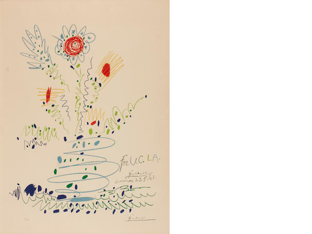 Pablo Picasso (Spanish, 1881-1973), For U.C.L.A. (M.351), 1961, signed 'Pablo Picasso' (lower right) and numbered '81/100' (lower left), lithograph, 28 x 20in