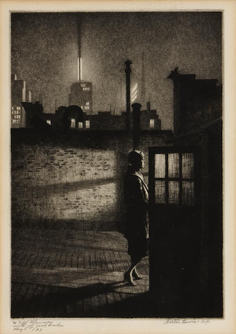 Martin Lewis (1881-1962); Little Penthouse;