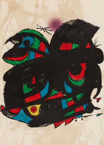 Joan Miró (1893-1983); Poster for the Opening of the Fundació Joan Miró Barcelona;