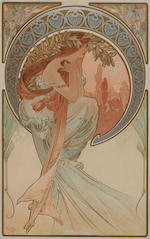 Alphonse Mucha, The Four Arts, (RW 54), 1898, lithographs, 16in x 24in