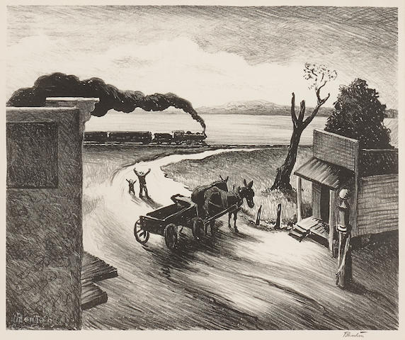 Thomas Hart Benton (American, 1889-1975); Edge of Town;