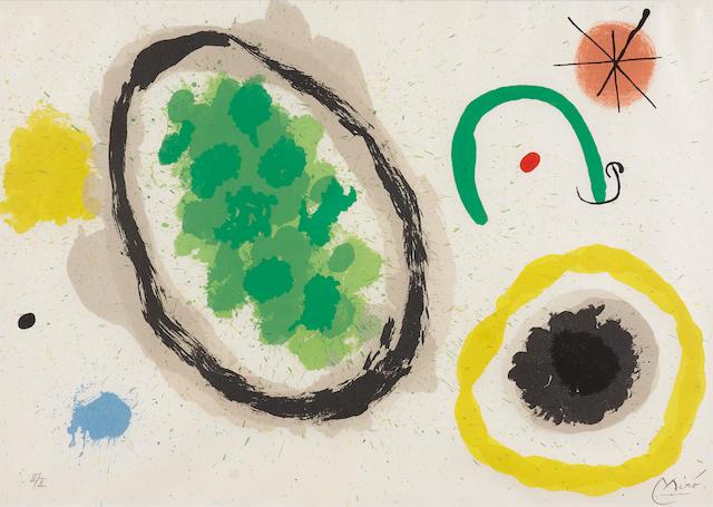 Joan Miró (1893-1983); Untitled, Pl. 9, from Le lézard aux plumes d'or;