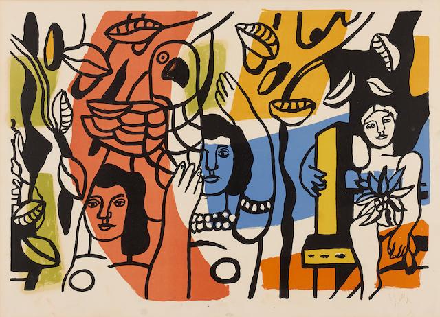 Fernand Léger (1881-1955); Les femmes au perroquet;
