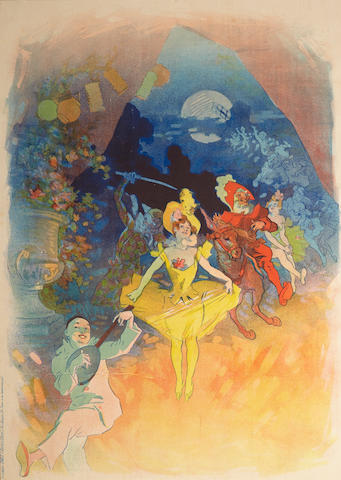 Jules Chéret (1836-1932); Musée Grévin. Théatre les Fantoches;
