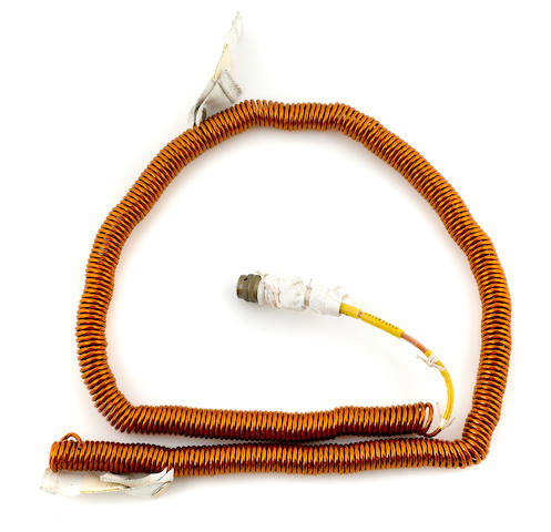 UTILITY LIGHT CORD—APOLLO 15 LUNAR MODULE. Flown on Apollo 15, a Lunar Module Utility Light Cord.