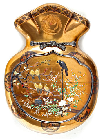 A single-case Shibayama lacquer inro Meiji period (late 19th century)