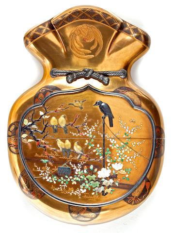 A single-case Shibayama lacquer inro Meiji period (late 19th century)