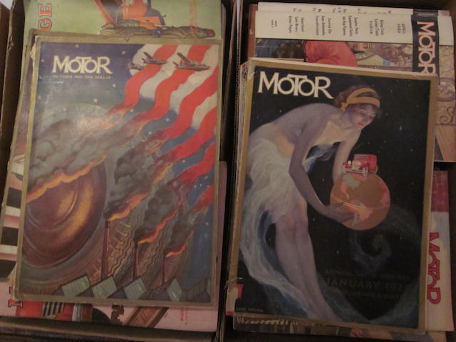 A lot of Motor and Motor Age Magazines,