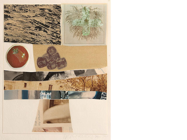 Robert Rauschenberg (American, 1925-2008); Horsefeathers Thirteen-III, from Horsefeathers Thirteen Series;