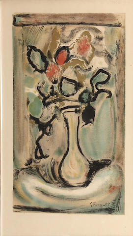 Georges Rouault (French, 1871-1958); Fleurs; (2)