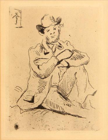 Paul Cézanne (French, 1839-1906); Portrait du peintre Armand Guillaumin au pendu;