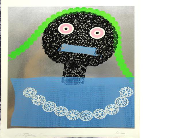 Enrico Baj (Italian, 1924-2003); Untitled (Donna con i capelli verdi);