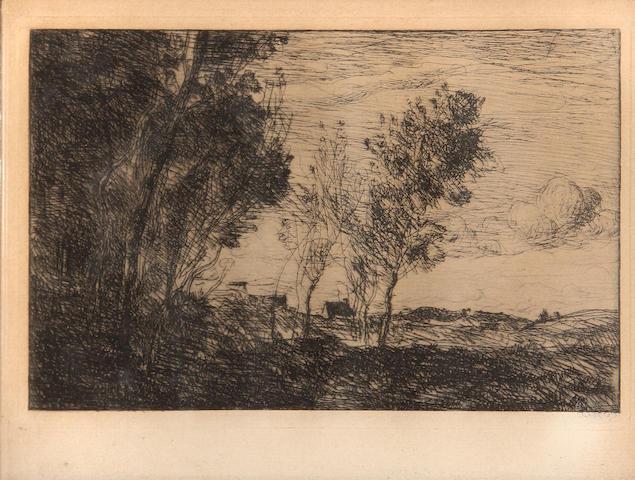 Jean-Baptiste-Camille Corot (French, 1796-1875); Dans les dunes, souvenir du Bois de la Haye;