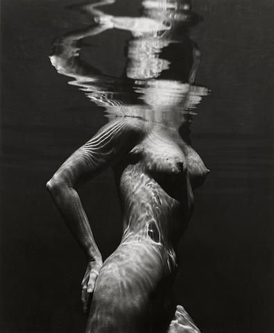 Brett Weston (1911-1993); Untitled (Nude Underwater);