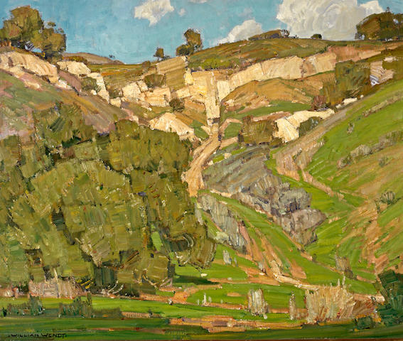 William Wendt (American, 1865-1946) Upward trail 25 1/4 x 30in