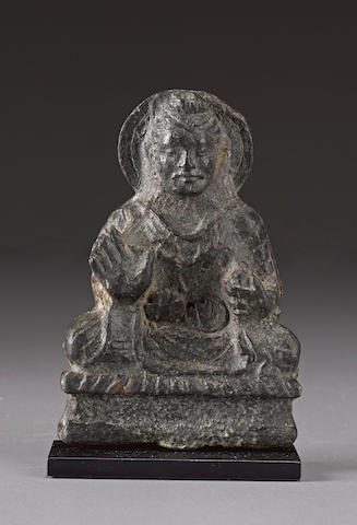 A copper alloy plaque of Buddha Ancient Region of Gandhara, 2nd century