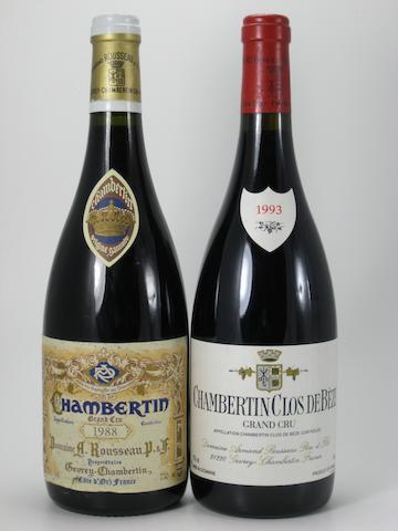 Chambertin, A. Rousseau 1988 (2)<BR />Chambertin, A. Rousseau 1991 (3)<BR />Chambertin Clos-de-Bèze, A. Rousseau  1993 (2)