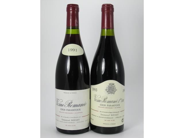 Vosne-Roman&#233;e, Cros Parantoux, E. Rouget 1991 (4)<BR />Vosne-Roman&#233;e, Cros Parantoux, E. Rouget 1993 (4)<BR />Vosne-Roman&#233;e, Cros Parantoux, E. Rouget 1995 (2)<BR />Vosne-Roman&#233;e, Cros Parantoux, E. Rouget 1996 (1)