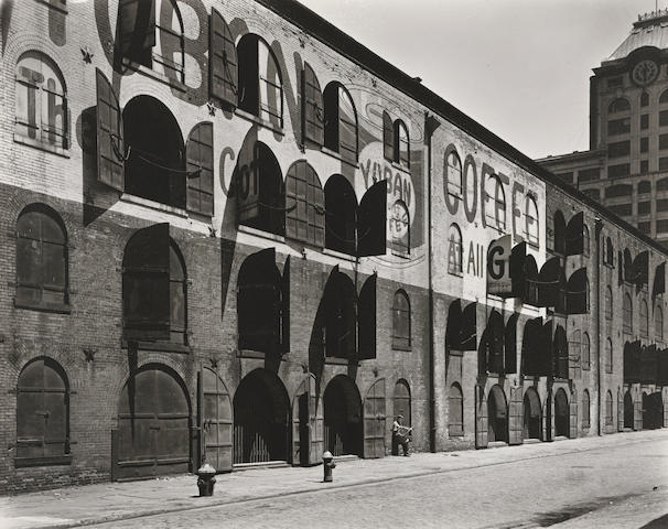 Berenice Abbott (1898-1991); Yuban Warehouse, Water and Dock Streets, Brooklyn, May 22, 1936;