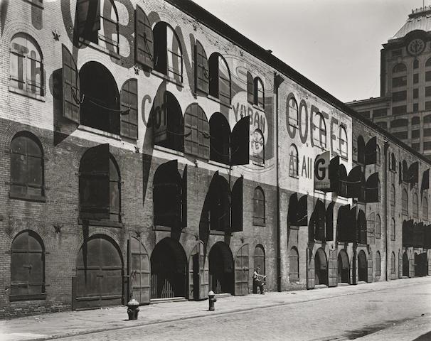 Berenice Abbott (1898-1991); Yuban Warehouse, Water and Dock Streets, Brooklyn, May 22;