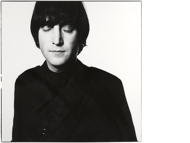 David Bailey (born 1938); John Lennon Eyes Closed, London;