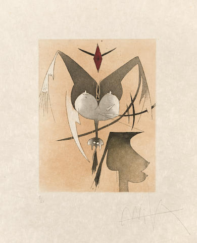 Wifredo Lam (1902-1982); Three Plates, from Croiseur Noir; (3)