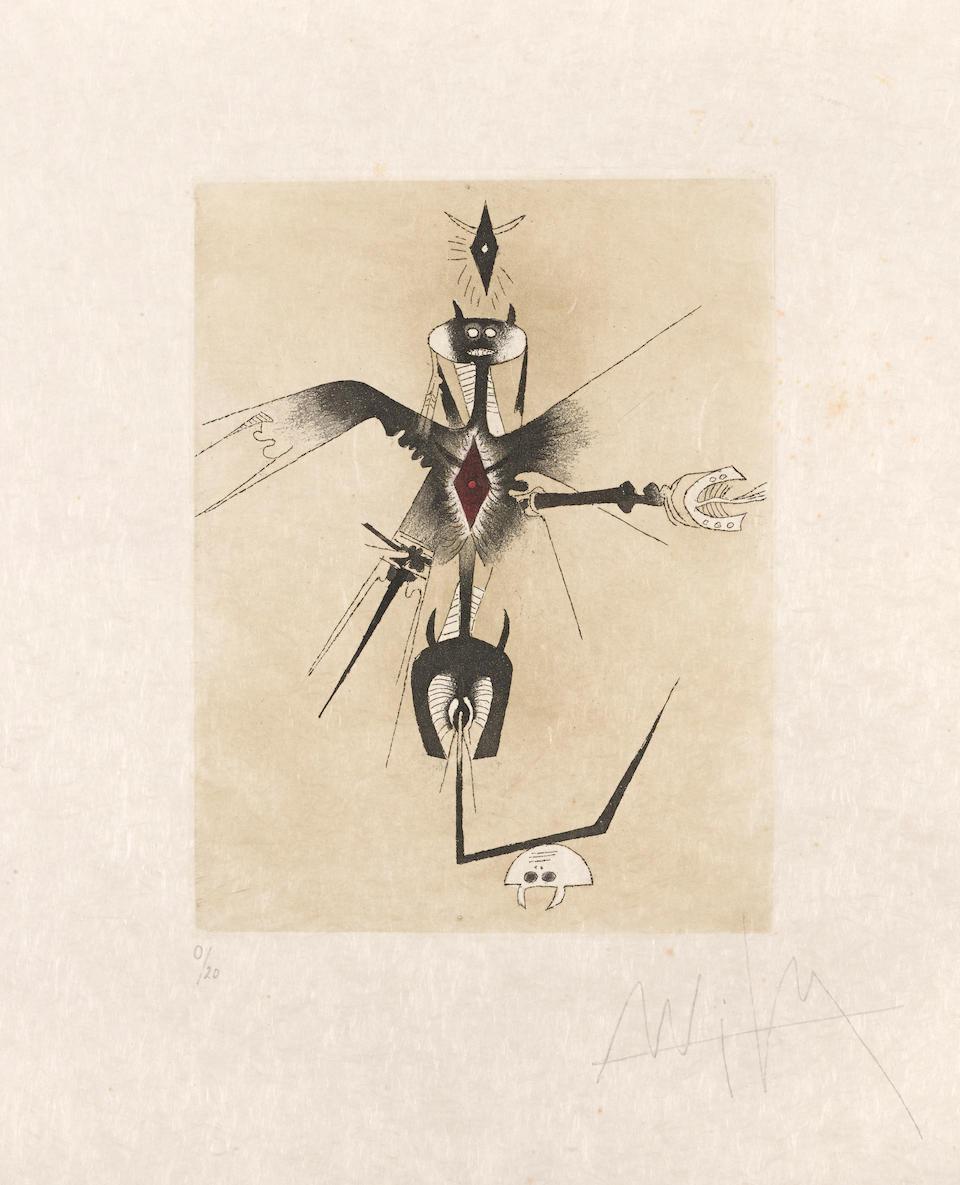 Wifredo Lam (1902-1982); Three Plates, from Croiseur Noir; (3)