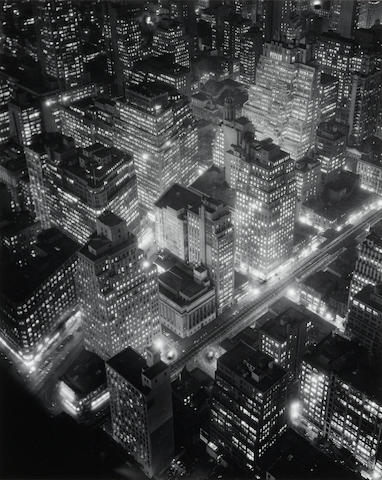Berenice Abbott, New York at Night, 1932/later, Gelatin silver print ///