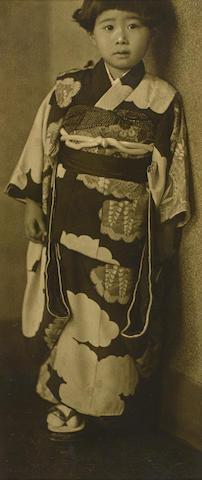 Ogawa Gesshu (1891-1967); Girl in Kimono;