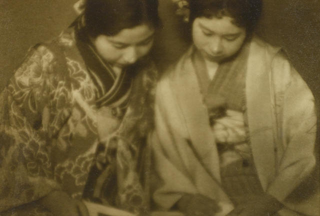 Ogawa Gesshu, Two Women Reading ///