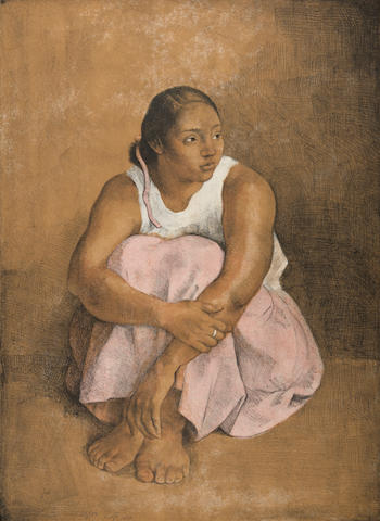 Francisco Zúñiga (1912-1998); Dolores Sentada;