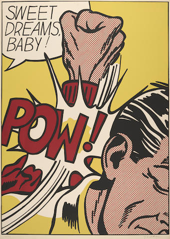Roy Lichtenstein (1923-1997); Sweet Dreams, Baby!, from 11 Pop Artists Volume III;