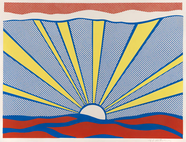 Roy Lichtenstein (1923-1997); Sunrise;