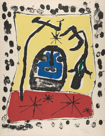 Joan Miro, Composition, 1953, lithograph, 36/125 .