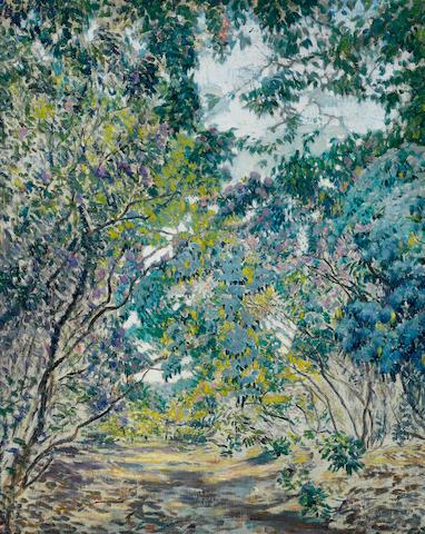 Lawton Silas Parker (American, 1868-1954) A secret garden 30 1/4 x 24in