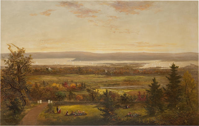Jesse Talbot, Autumn-Along the Hudson, oil on canvas