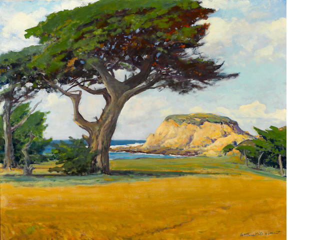 Arthur Hill Gilbert (American, 1894-1970) Cypress Point 25 1/4 x 30in