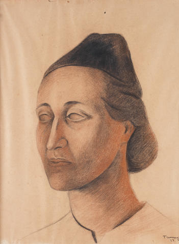 RUFINO TAMAYO (1891-1991) Portrait of Herminia Arrate de Dávila, 1937