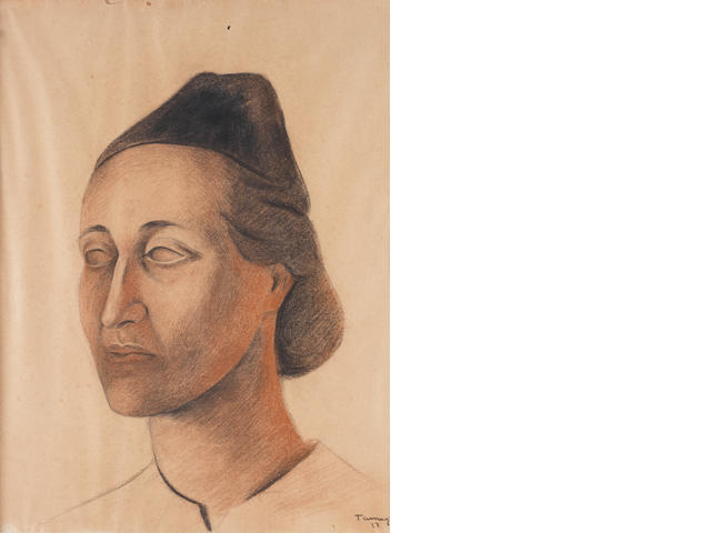 Rufino Tamayo (Mexican, 1899-1991) A portrait of Hermina Arrate de Davita 24 7/16 x 18 1/2 in. (62 x 47cm.)