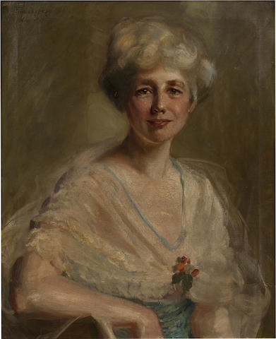 Pierre Troubetsoy, Portrait of Amelie Rives, oil on canvas