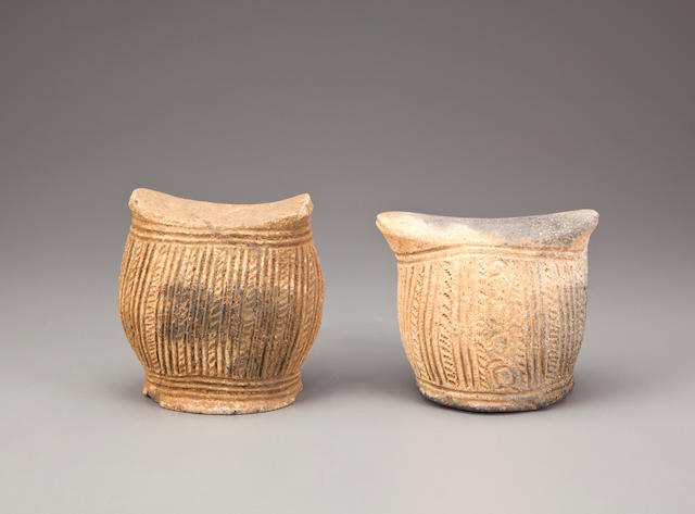 Two Calabar Headrests, Nigeria