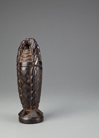 Kuba Lidded Container, Democratic Republic of the Congo
