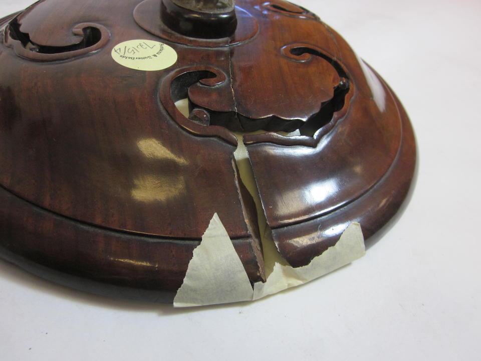 A cast bronze incense burner 18th/19th century