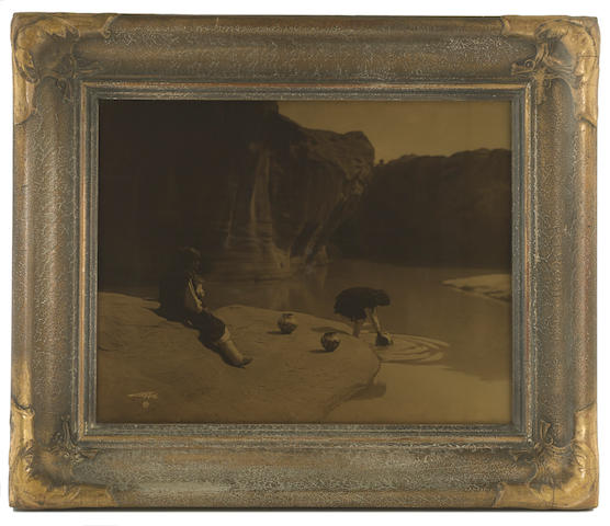 Edward S. Curtis (1868-1952); At the Old Well of Acoma;