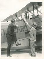 AMERICAN AVIATORS. Collection of approximately 72 black and white photographs, various sizes, mostly around 5 x 7 inches.