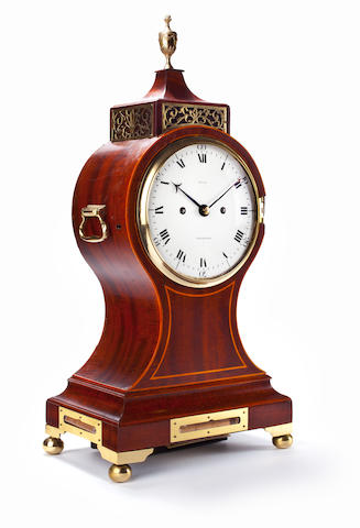 A George III Scottish inlaid mahogany balloon clock Thomas Reid, Edinburgh, circa 1800