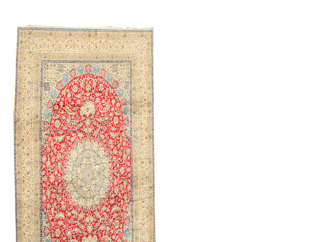 A Nain carpet  size approximately 19ft. 2in. x 31ft. 6in.