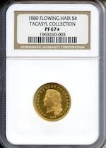 1880 $4 Stella Flowing Hair PF-67* NGC