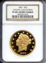 1891 $20 Ultra Cameo PF-68* NGC